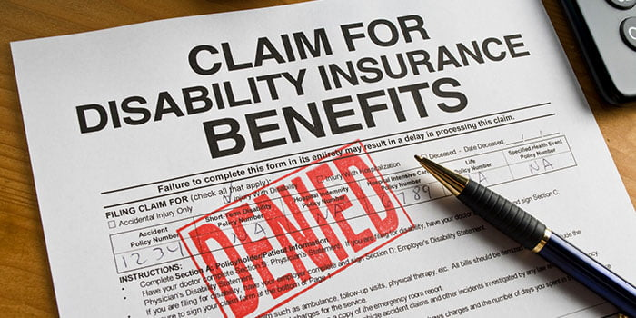 Claim disability benefits form